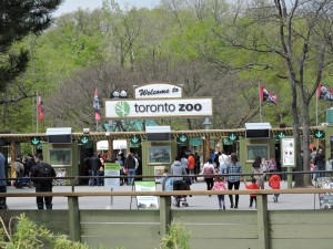 Entrada do Zoológic de Toronto.