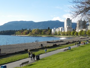 English Bay beach vista do Sunset Beach Park.